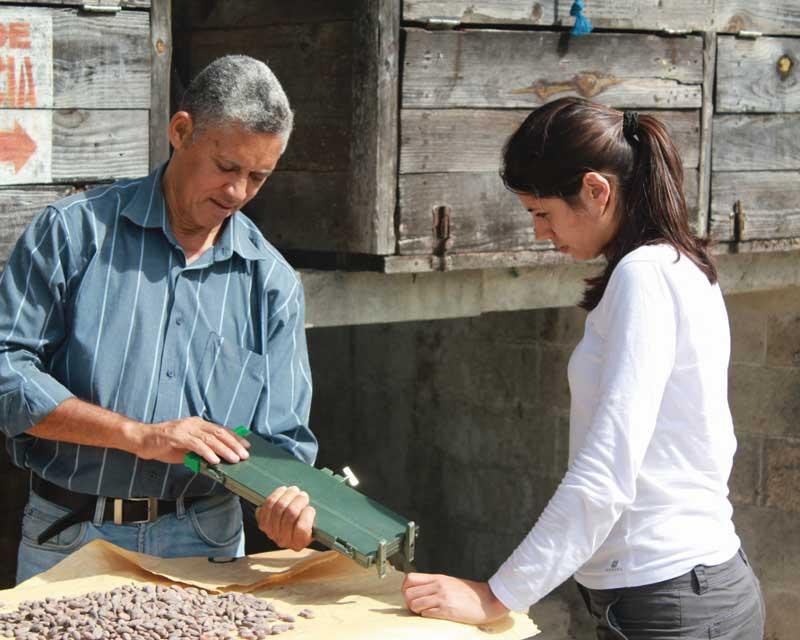 Hasnaâ Ferreira sélectionne les meilleurs fèves de cacao