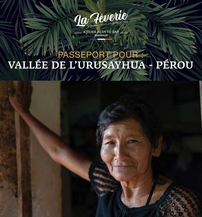 Chocolats d'origine du Pérou, vallée de l'Urusayhua